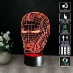 Lampa LED 3D Iron Man